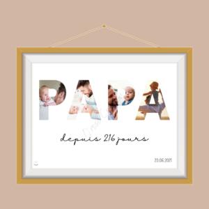 cadeau affiche personnalisée fête des pères